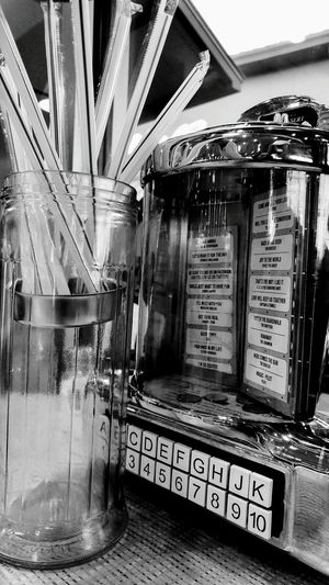 My World Of Food Foodphotography Cafe Old Style Jukebox Jukebox Retro 60s Fashion Dinner Time Black And White Photography Black & White Black And White Collection