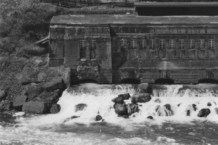 Old power plant Old Power Station Rushing Water Water Power Plant Architecture Boulders, Rocks, Stones Man Made Water Way Power From Nature Splashing Water Exit Tunnels Waterfall