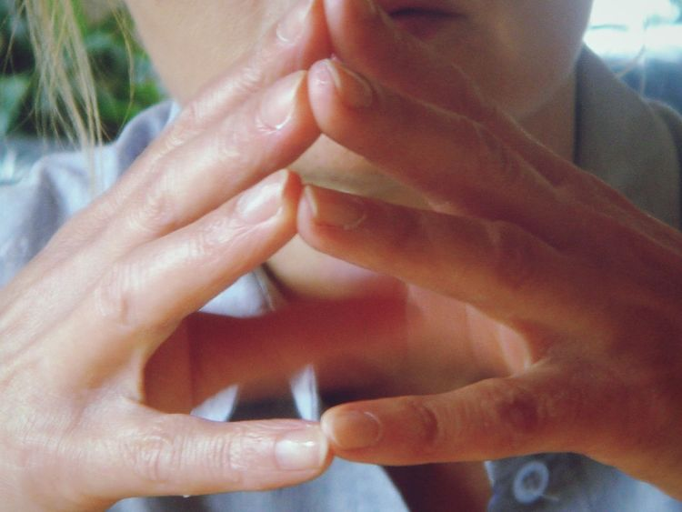hands of woman in minds Thinking About Life fingers Portrait