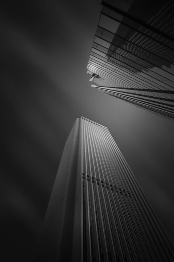 Architecture Architecture_collection Architectural Feature Architecture Black And White Black And White Photography Bnw_captures Bnw_collection Bnw_worldwide Bnwphotography Building Exterior Buildings Buildings Architecture Built Structure City Connection Low Angle View Modern Outdoors Sky Skyscraper Go Higher