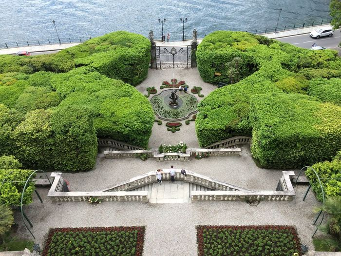 Architecture Building Exterior Built Structure Day Green Color Growth High Angle View Nature No People Outdoors Sculpture Sky Statue Travel Destinations Tree Water