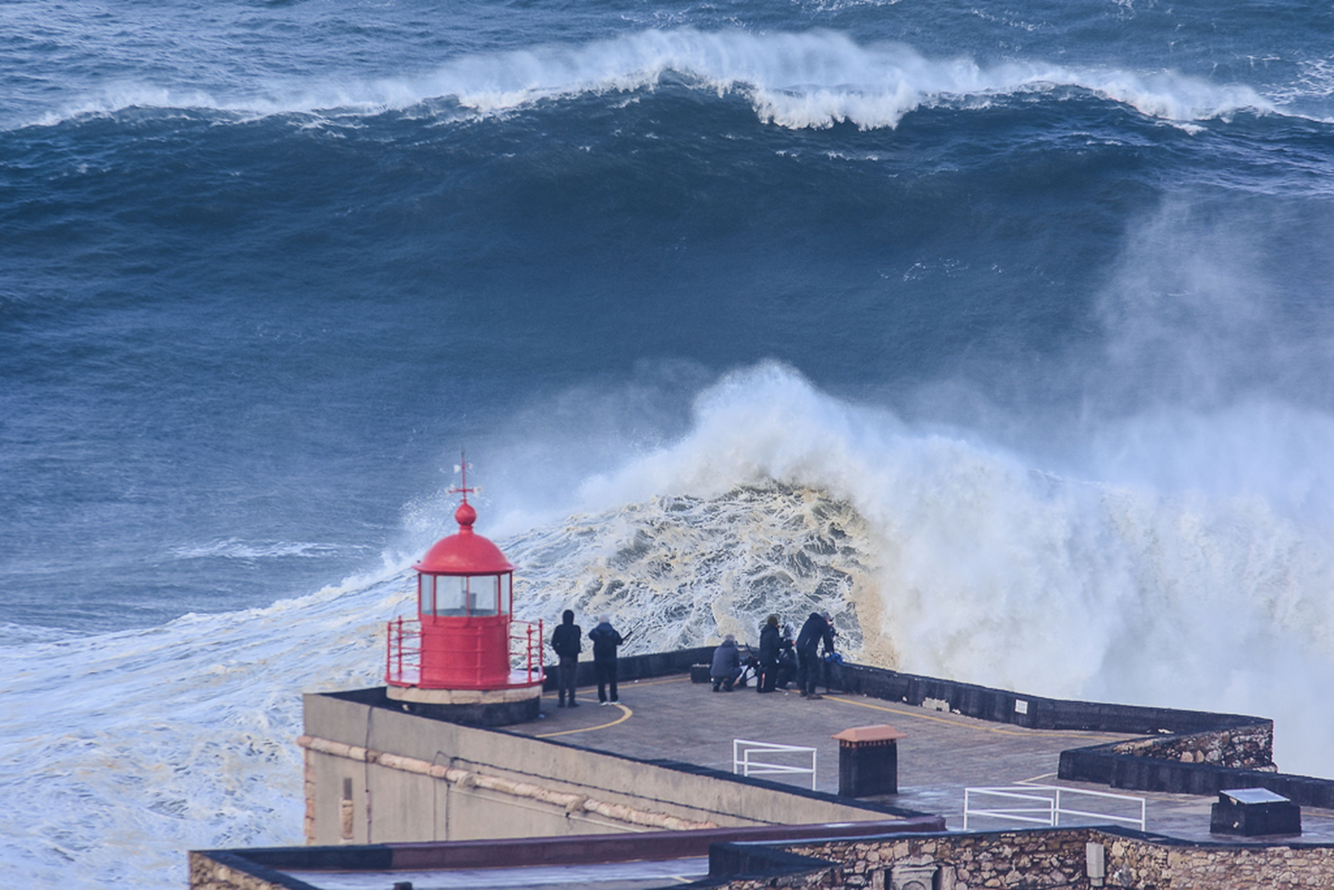 built structure, building exterior, architecture, wave, water, outdoors, sea, lighthouse, no people, sky, nature, day