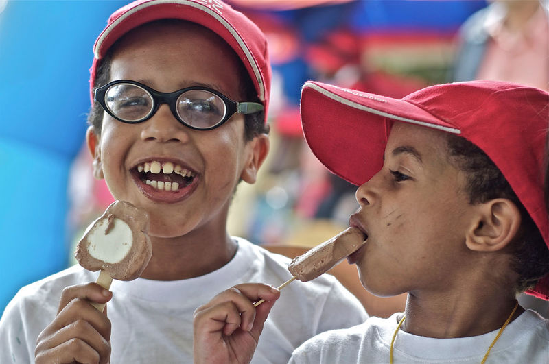 Eating Happiness Ice Cream Kids Morocco