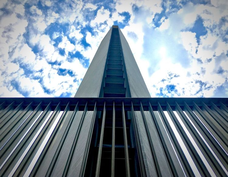 Low Angle View Architecture Built Structure Sky Day Building Exterior Cloud - Sky No People Pyramid Skyscraper Outdoors Modern Pirellone Milan