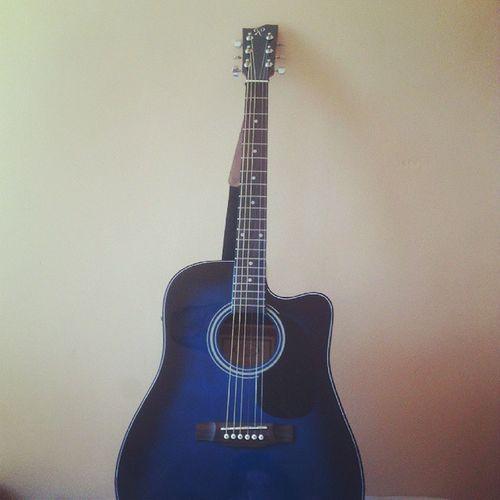 Guitar Blue Blueguitar Acoustic Acousticguitar Strings Rolings Rolingsguitar Amplified Sixstrings Music Rock Rockon Letsrock