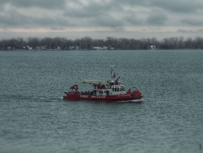 Toot, toot! Toronto Toronto Harbourfront Lake Ontario Toronto Fire Red Boat Fire Boat