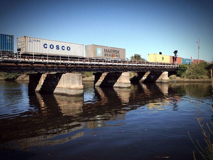 Goods railway line near Sydney airport. ProCamera7 app, iPhone 5 camera. Enjoying The Sun Fresh Air Railway Rail