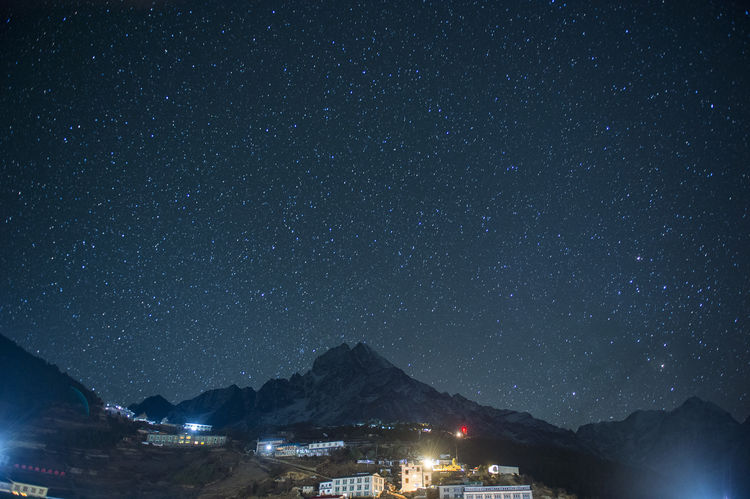 Namche Bazaar Architecture Astronomy Basecamp Beauty In Nature Building Exterior Built Structure City Everest Base Camp Trek Galaxy Illuminated Lukla Mountain Mountain Range Nature Night No People Outdoors Scenics - Nature Sky Space Star Star - Space Star Field Tranquility
