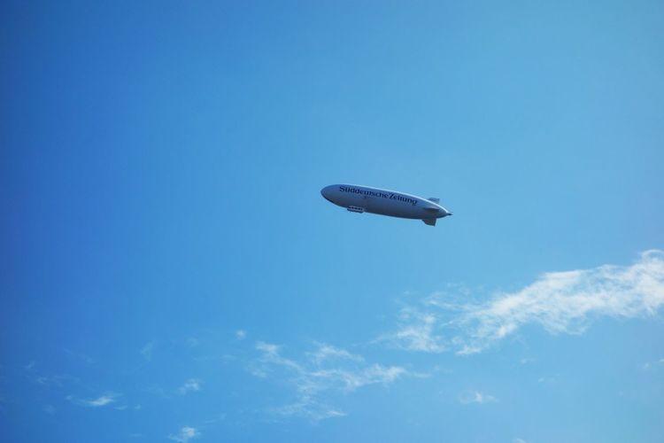 Zeppelin Airship Blue Süddeutsche Zeitung Isny Im Allgäu Heaven Sky
