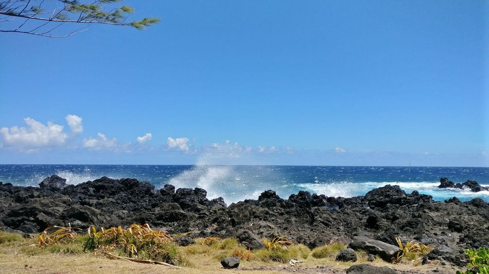 Sea Water Nature Blue Sky Horizon Over Water Beauty In Nature Reunion Island La Réunion  Tranquility No People Wave Nature