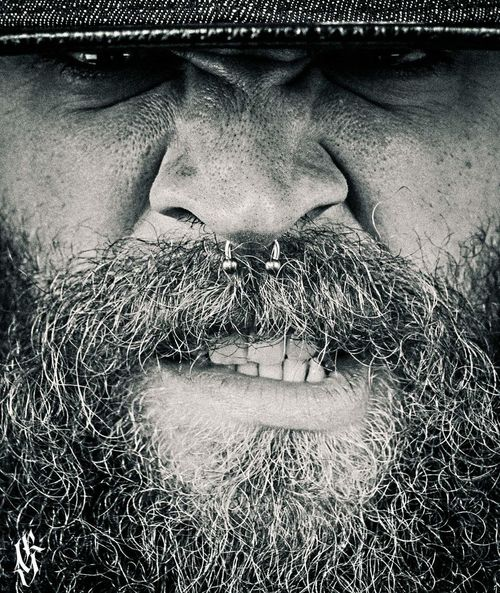 Bearded Beard Beardlife Percings  Close-up Street Life Inked