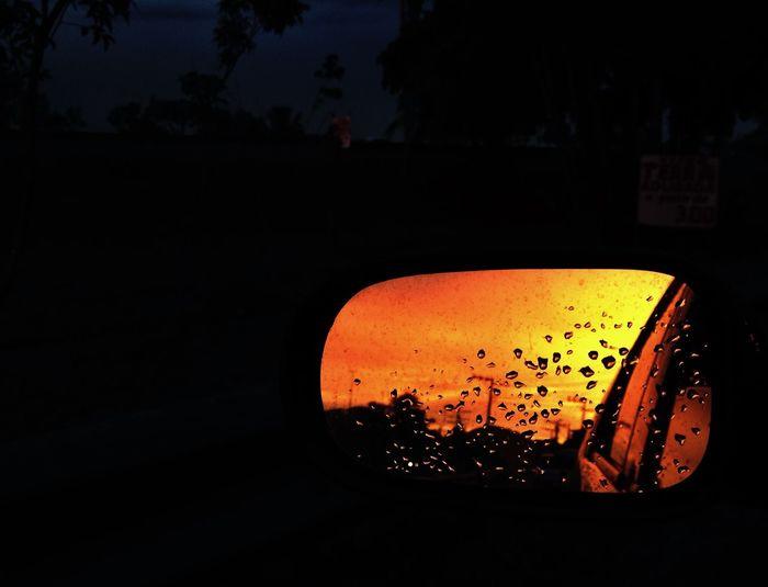 Reflection sunset IPSReflections Sunset Mirror Carmirror Retrovisor OpenEdit Eye4photography  EyeEmBestPics