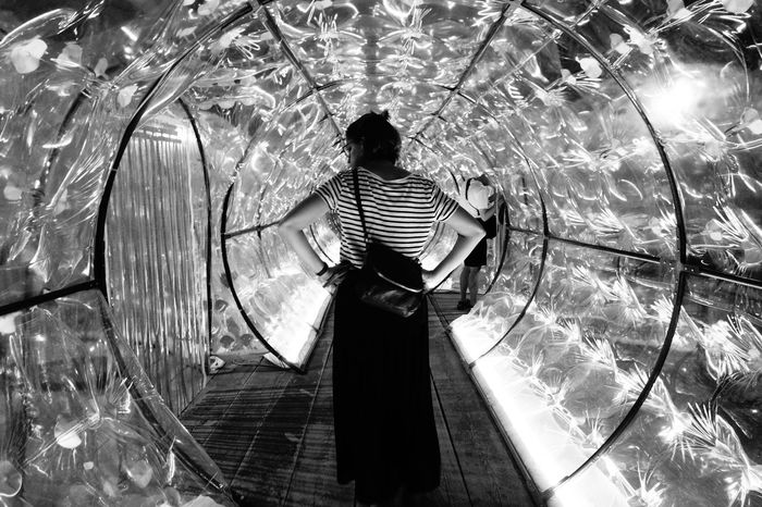 Tunnel One Woman Only Eyeemphotography Sommergefühle Taking Photos The Photojournalist - 2017 EyeEm Awards Built Structure Art Blackandwhite Photography Artspace Real People From My Point Of View BYOPaper! Indoors