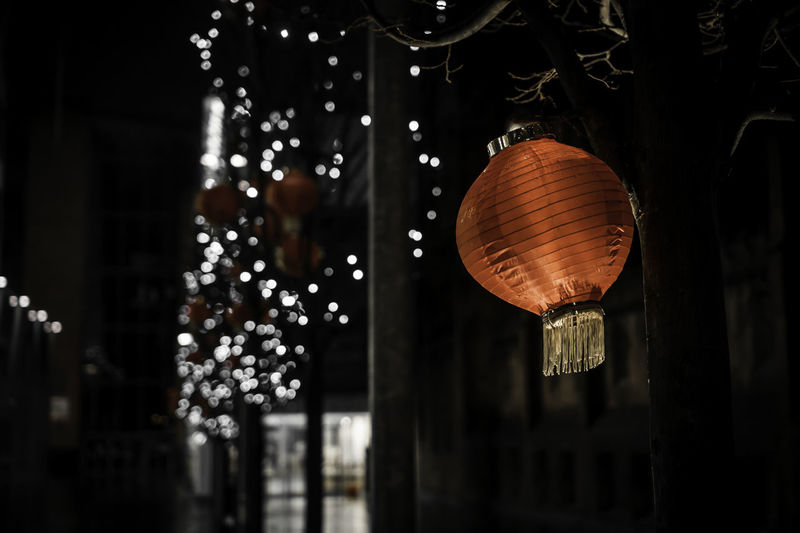 35mm Bokeh Photography Focus Object Chinese Culture Chinese Lantern Chinese New Year City Cultures Decoration Focus On Foreground Hanging Illuminated Lantern Light Manchester New Year Night Old-fashioned Sony Sony A6000 Spinningfields Uk Urban Urban Year Of The Monkey