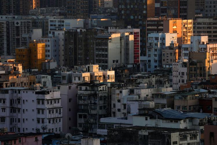 Cityscape during sunrise