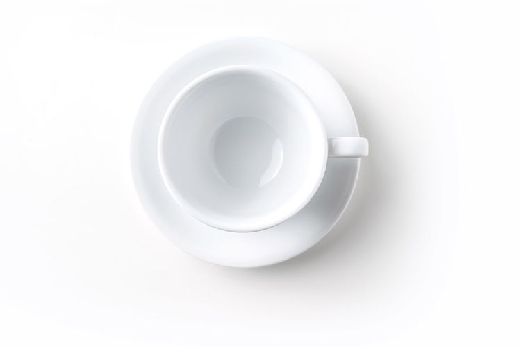 High angle view of empty coffee cup