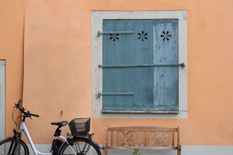 Historic building in Konstanz, Germany. Architecture Bench Bicycle Blue Break Building Exterior Built Structure Downtown Historic House Longevity Copy Space Minimalist Architecture Ornaments Parked Pastel Pastel Colors Pastel Power Pause Tranquil Scene Tranquility Wall Wall - Building Feature Window Transportation