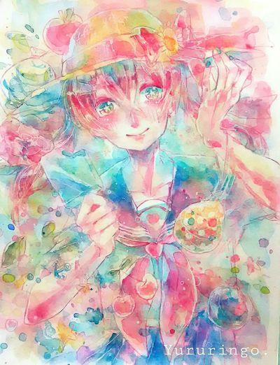 ArtWork Watercolor Art Original イラスト Girl Summer Illustration Illustrations  Sailer
