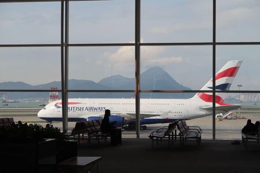 British Airways A380 at Hong Kong International Airport.(Chek Lap Kok) Airport British Airways A380 Hong Kong