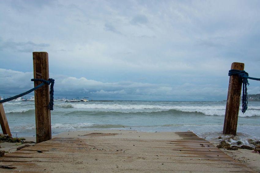 Palermo Mondello Beachphotography Autumn Summerend Beach Sea And Sky Landscape Nikonphotography D7100