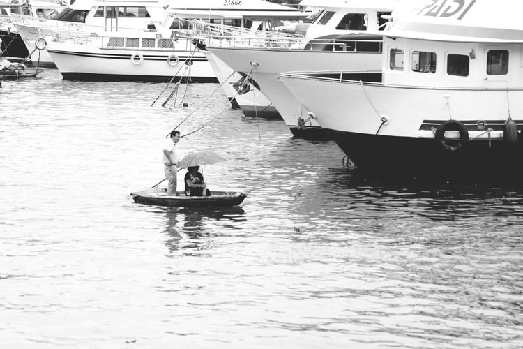 小小竹筏海中游