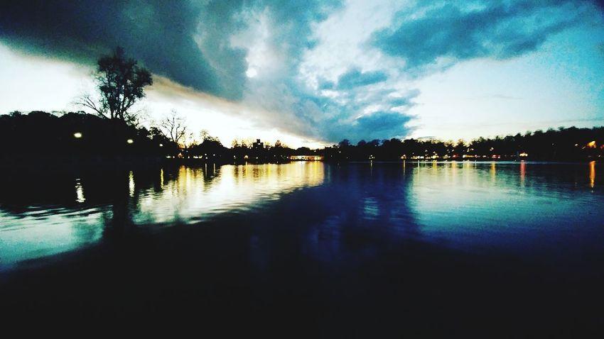 Reflection Water Sky Illuminated Majestic Tranquility Water Surface Idyllic Panoramic Shot Sunset Cityscape Night Sea Scenics Cloud - Sky Tranquil Scene Horizon Over Water Reflection Tree No People Outdoors Nature
