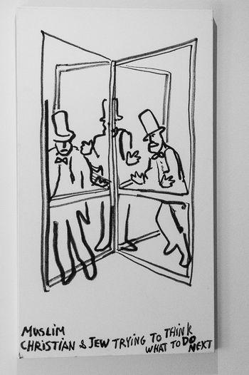 Bnw_friday_eyeemchallenge Eran Shakine Drawing - Art Product Jewish Museum, Berlin Sketch Bnw_doors