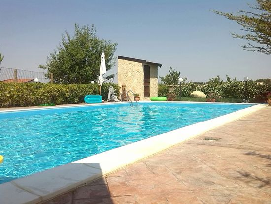 Hello World Swimming Pool Relaxing Summer