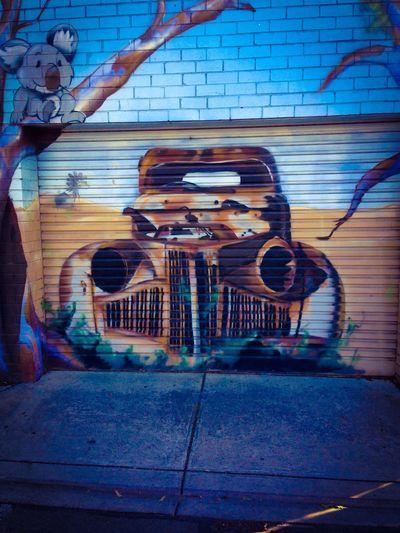 Aussi Wreck by Dvate Melbourne Graffiti