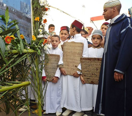 Boys Child Childhood Coran Coranique Culture Culture And Tradition Day Education Fete Girls Maroc Men Outdoors People Real People Standing Togetherness Women Young Adult