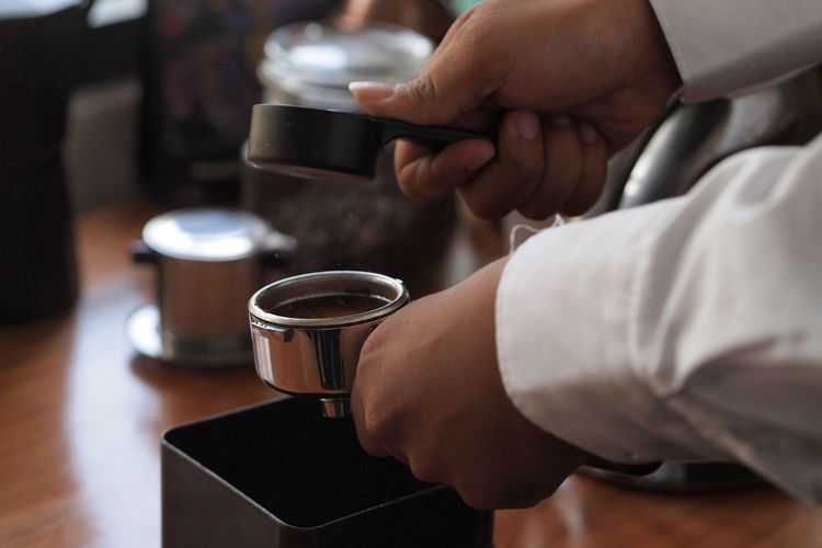 Making coffee Coffee Maker Coffee Table Coffee ☕ Coffee Bean Coffee Maker Pressing Coffee Human Hand Drink Working Coffee - Drink Preparation  Making Coffee Cup Holding Close-up Espresso Maker Barista Espresso EyeEmNewHere