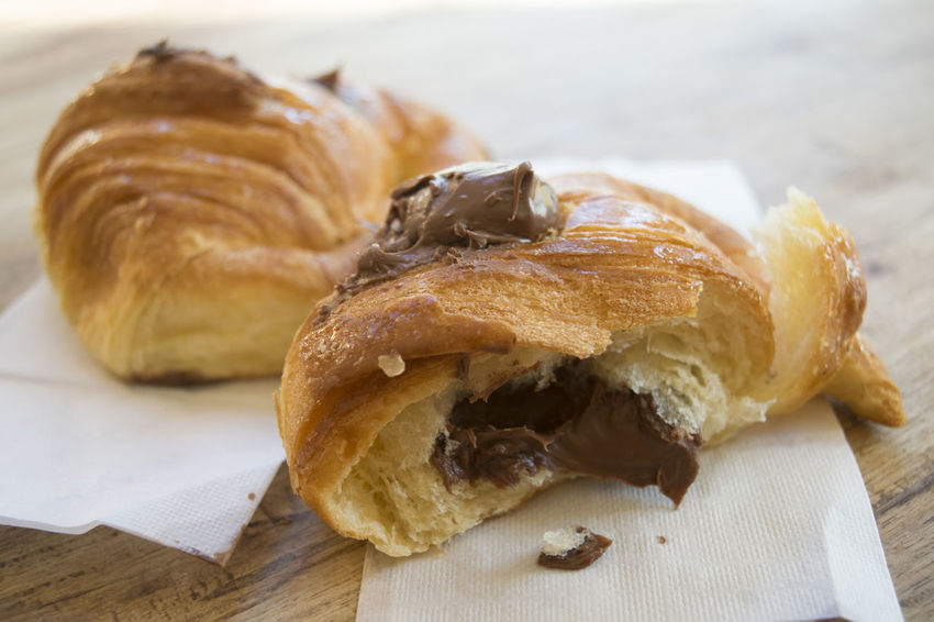 chocolate croissant cut half Chocolate Au Chocolat Breakfast Croissant Melted Morning Pain Stuffed