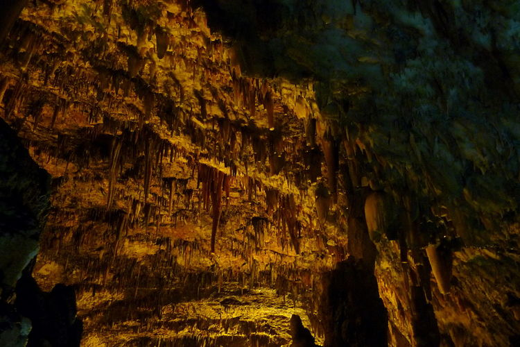 Beauty In Nature Cave Geology Illuminated Kefalonia, Greece Myths Nature No People Stalactite