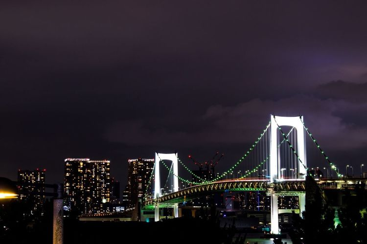 Rainbow view Architecture Illuminated Night Built Structure Sky Building Exterior Travel Destinations Bridge - Man Made Structure Suspension Bridge No People Low Angle View First Eyeem Photo