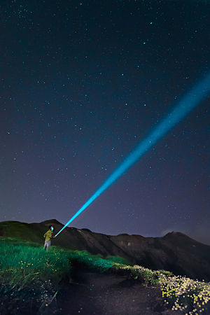 Etna Man Astronomy Beauty In Nature Discover  Green Color Idyllic Illuminated Land Mountain Nature Night One Person Outdoors People Scenics - Nature Sky Space Star Star - Space Tranquil Scene Tranquility Volcano Water