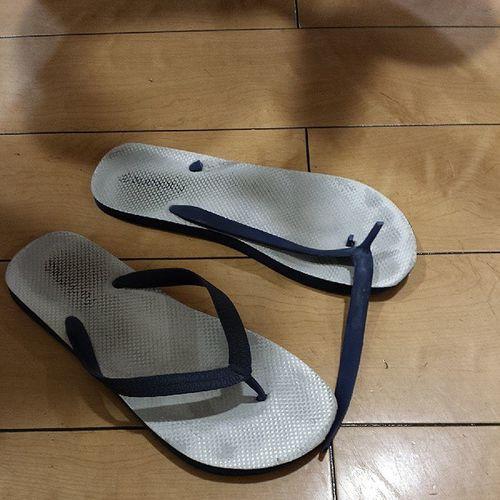 The fate of @richardteoooo $5 Factorie slippers bought from Australia. Hahahahahaha