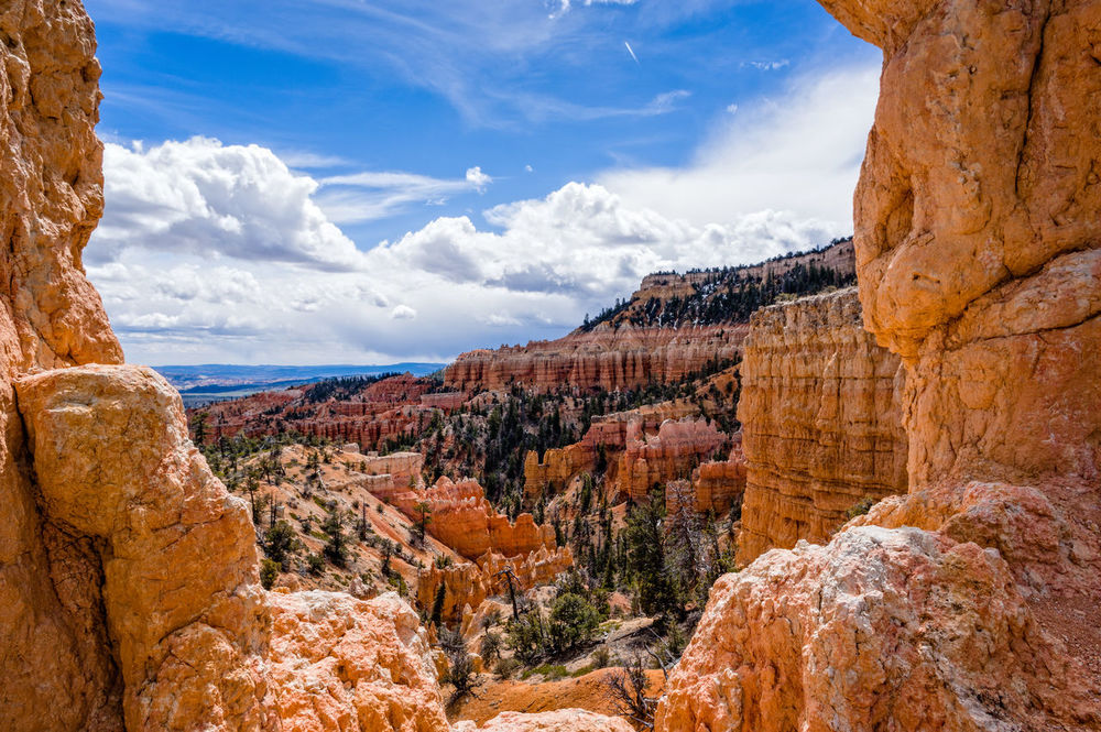 Beauty In Nature Blue Bryce Canyon Canyon Cloud - Sky Day Extreme Terrain Geology Landscape Nature No People Outdoors Physical Geography Rock - Object Rock Formation Scenics Sky Travel Travel Destinations