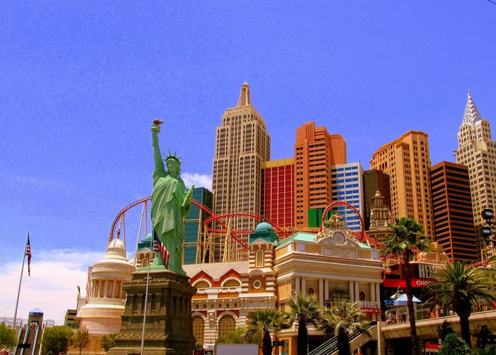 Las Vegas Nevada New York Casino The Strip Gambling Statue Of Liberty Empire State Building Adventures In The City