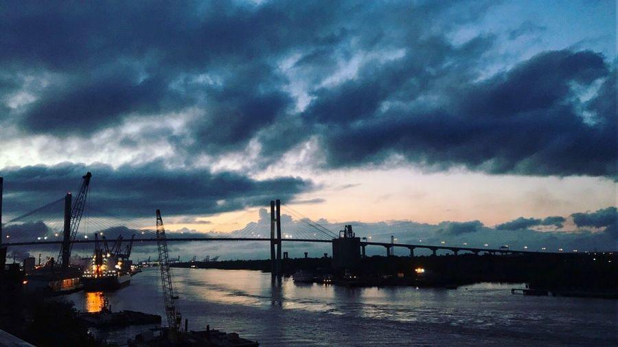 Savannah sunset on the river Savannahriver Savannahsunset Sunset