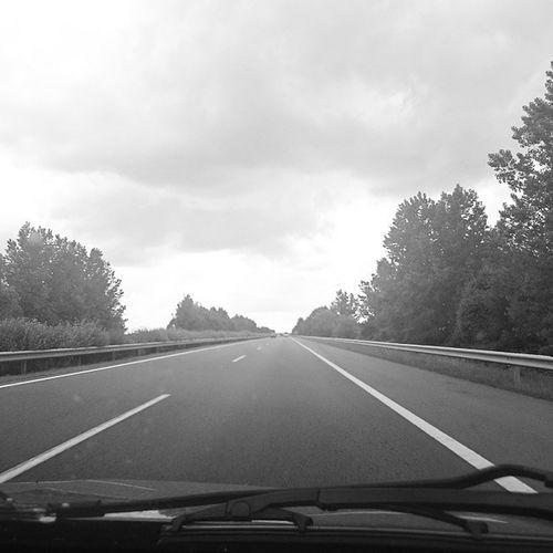Ontheroadagain Car Highway Travel Blackandwhite Clouds Hungary Mik Ikozosseg Instahun Ig_hun