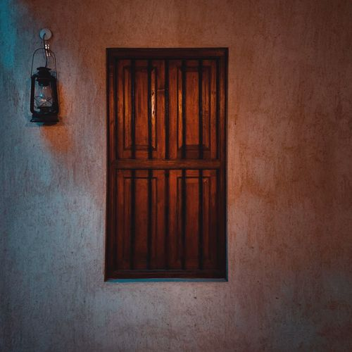 Door Wood - Material Entrance Built Structure Closed Architecture Safety No People Security House Lighting Equipment Day Wall Electric Lamp Protection