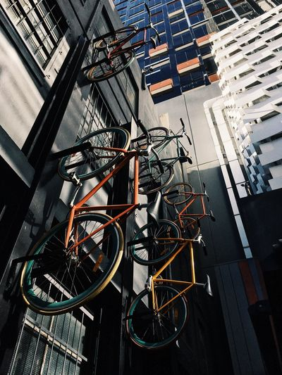 Imperfection EyeEm Gallery EyeEm Best Shots EyeEm Bicycle Transportation Architecture No People Mode Of Transportation Land Vehicle Built Structure City Sunlight Outdoors Wall - Building Feature Hanging Shadow Stationary Nature Building Exterior High Angle View Road Day Building