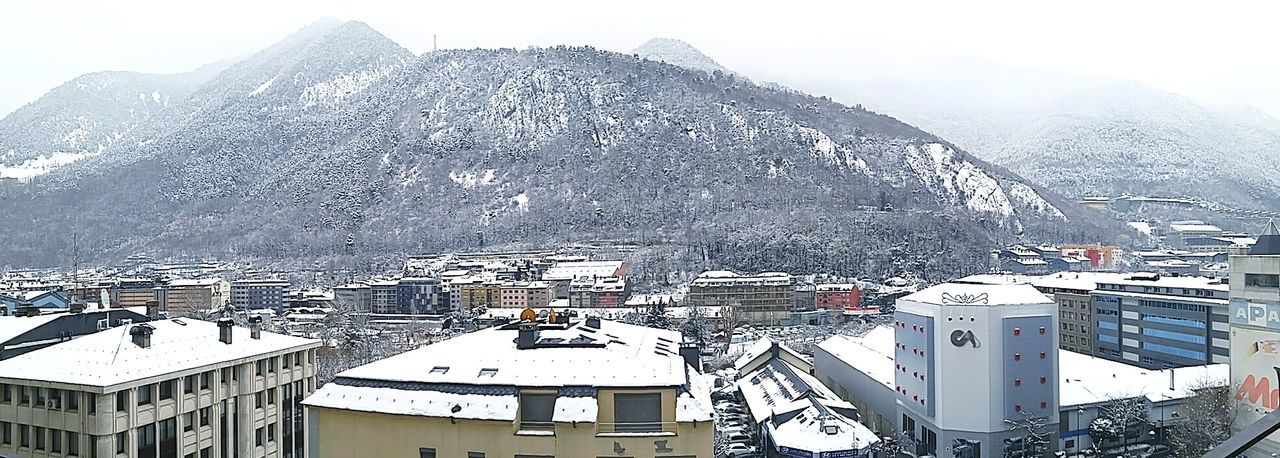Andorra Blanketed With New Snow. Cold Temperature Snow Snow ❄ Snow❄⛄ Day Mountain Cityscape Cityscapes City Skyline Mountain Life Mountain_collection Outdoors