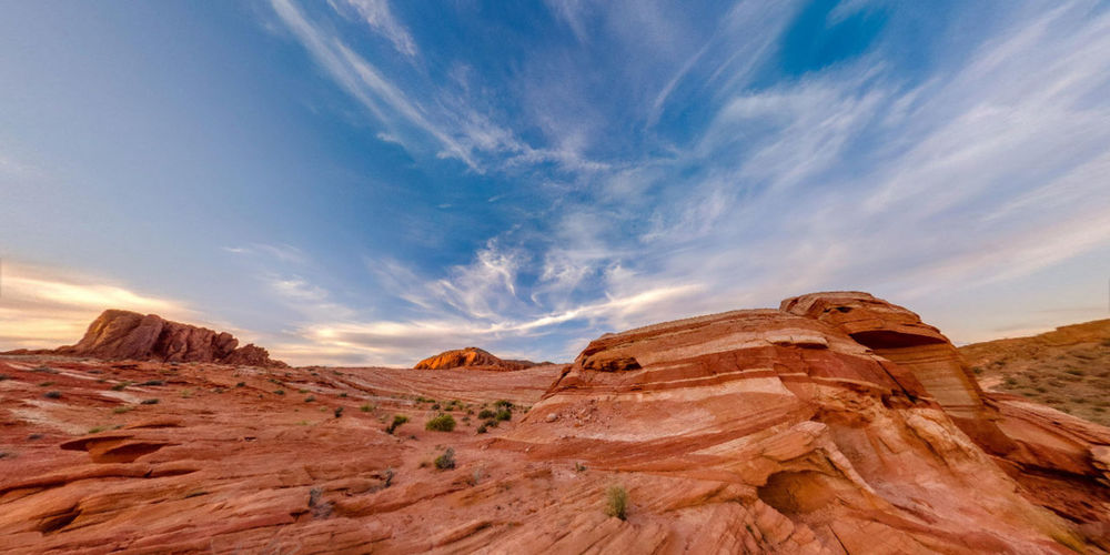 Scenic view of antelope canyon against sky