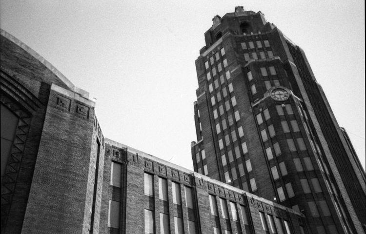 Buffalo Central Terminal Olympus XA2 TriX400 Rodinal First Eyeem Photo Architecture Art Deco Architecture EyeEm Bnw Blackandwhite Monochrome Tower Fresh On Eyeem  Fresh On Eyeem  The Architect - 2016 EyeEm Awards