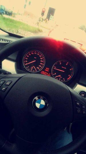 Bmw Driving Around Wheel