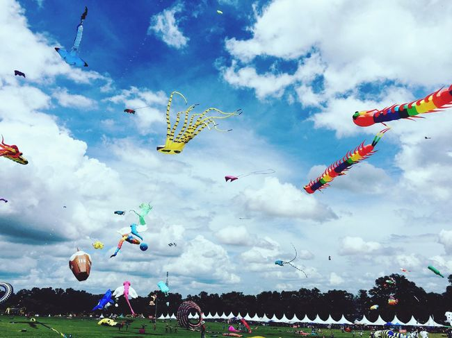 Cloud - Sky Outdoors Windy Day Multi Colored Day Pasir Gudang World Kite Festival EyeEmNewHere Paint The Town Yellow