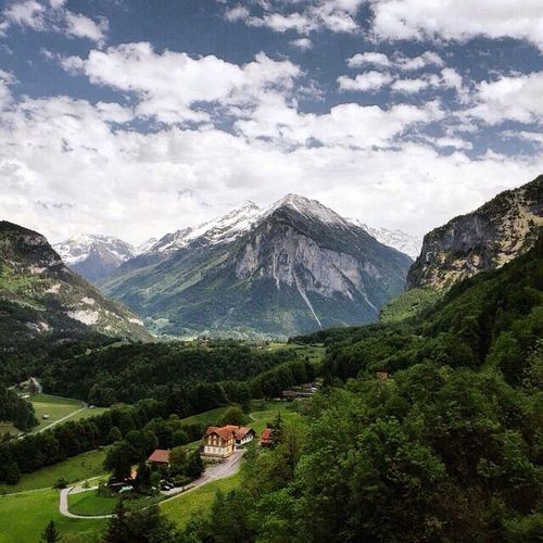 Mountain Cloud - Sky Beauty In Nature Travel Destinations Green Color Sky Scenics Day Landscape Outdoors Mountain Peak No People Nature Travel View Nature Nature_collection Switzerland