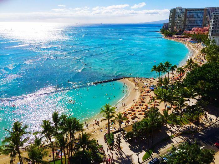 Waikiki, Oahu Seaside Ocean Beach Beach Photography Blue Ocean Blue Sky Hawaii Sunset Hawaiishots Hawaiian Sunset Oahu Island Hotel Hotel View Royal Hawaiian Beachphotography Nature Beach Life Tourism Sky Sky And Clouds Sea Sea And Sky Landscape Landscape_Collection Landscape_photography