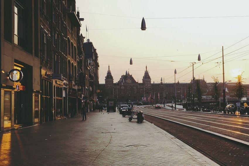 Morning. Amsterdam Morning Walk Centralstation